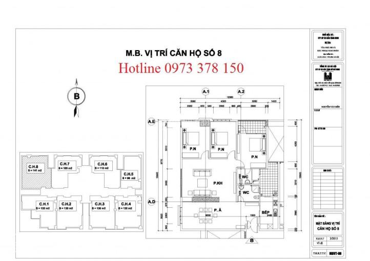 Bán chung cư N01T2 Ngoại Giao Đoàn, căn góc 141m2, bàn giao thô