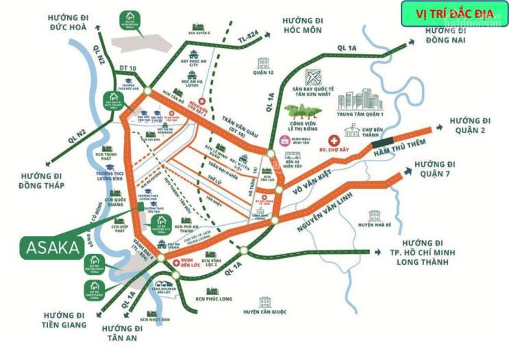 Đất nền dự án Long An, cơ sở hạ tầng hoàn chỉnh, pháp lý 100%, giá chỉ 12tr/m2, liền kề Water Point