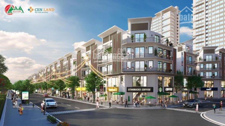 Bán shophouse Khai Sơn Town 8 tỷ 90m2, mặt tiền 6m xây 5 tầng, đường 22m, hướng Đông Nam