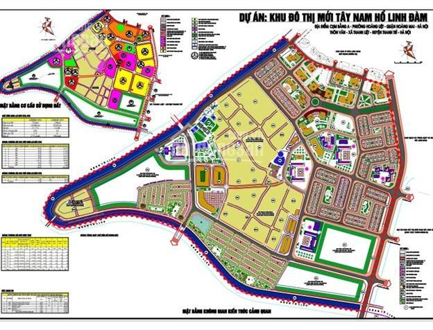 Bán đất liền kề Tây Nam Linh Đàm, DT 60m2, 80m2, 90m2, giá bán 41 tr/m2