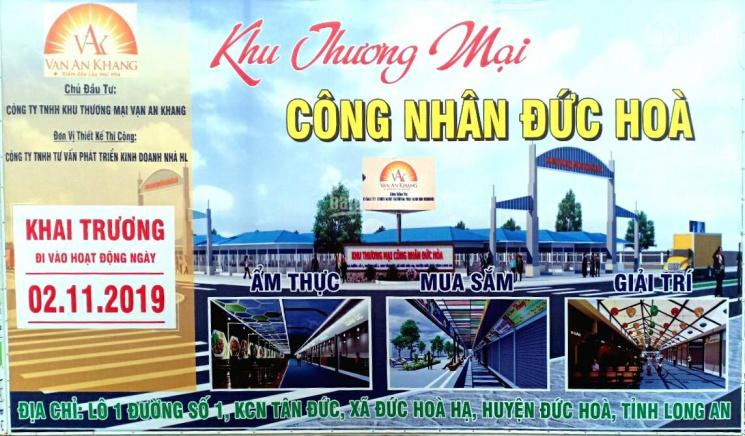 Bán KIOT Khu mua săm COSMART Tân Đức-Đức Hoà - Long An chỉ từ 400tr
