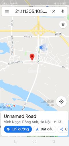 1,2 tỷ đất Vĩnh Ngọc cách Cầu Nhật Tân 200m tổng diện tích 51,1m2, LH: 0823330001