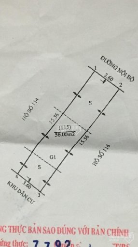 Bán đất tại khu tập thể 386 xã Đình Xuyên - Huyện Gia Lâm - TP Hà Nội, diện tích: 56m2