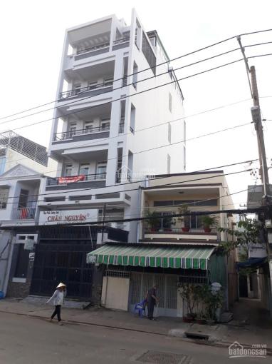 Cho thuê tòa nhà CHDV Q4 MT Tôn Thất Thuyết, DTMB 6.1x20m,635.5m2 sàn,6 tầng thang máy. Giá 90tr/th