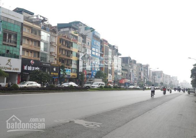 Bán đất mặt phố Hoàng Quốc Việt 302m2 mặt tiền 8,7m đất vuông đường hè 50m, giá 82 tỷ