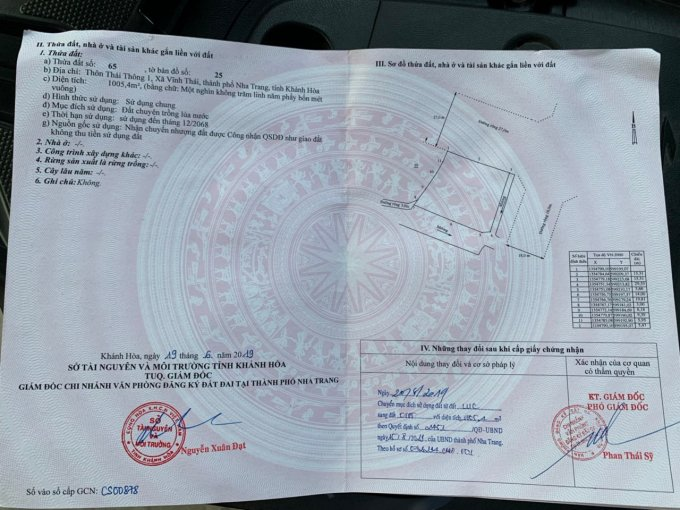 Chính chủ cần bán lô đất Vĩnh Thái, TP Nha Trang. Dt lớn, mặt đường 27m, giá tốt. Lh 0946490196