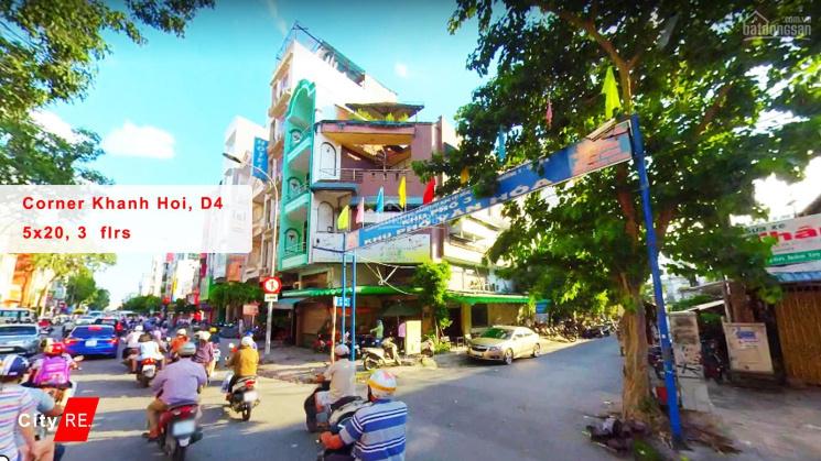 Cho thuê nhà góc 2 MT số 277 Khánh Hội, P10, Q4 (5.3 x 20m) 3 lầu, chỉ 75tr/tháng. LH: 093.887.3189