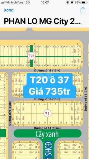 Chính chủ gửi bán lô T20 ô 37 dự án Mega City 2, giá 735tr/90m2, rẻ nhất dự án