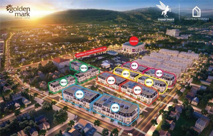 Chính chủ bán căn shophouse cạnh Vincom Plaza Cẩm Phả, hướng Đông Nam. Giá cắt lỗ 3,5 tỷ