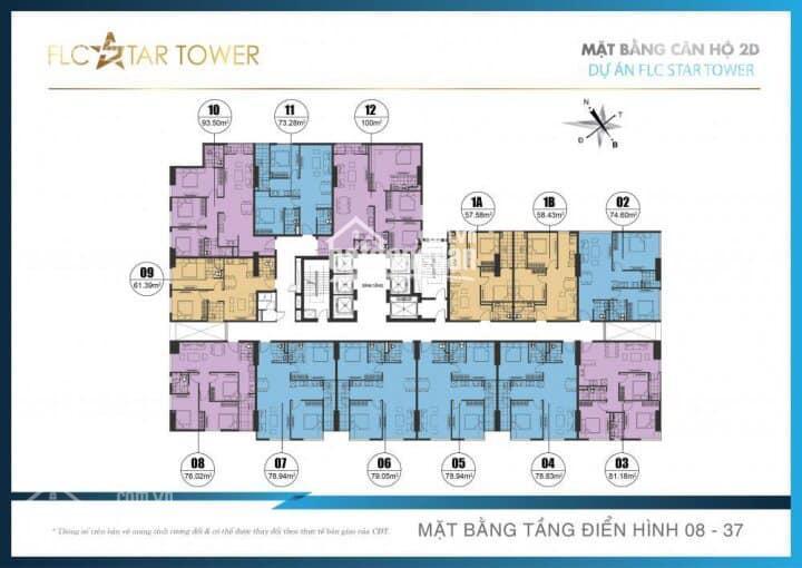 Cần bán căn hộ chung cư 2PN, tòa FLC Star Tower, Quang Trung, Hà Đông, giá tốt nhất. LH: 0911217166