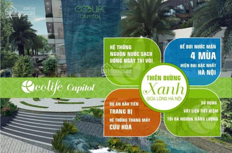 Cho thuê Văn phòng giá rẻ tại tòa Ecolife Capitol, DT linh hoạt: 50 - 100m2 - 200m2