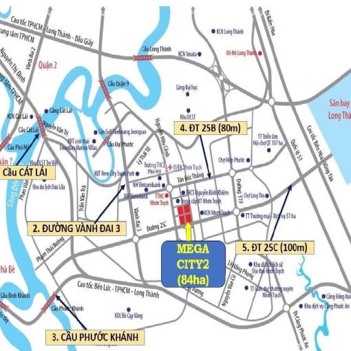 Đất nền Mega City 2, Nhơn Trạch, mặt tiền đường 25C, liên hệ: 0932 752 086