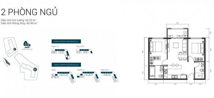 River Garden Residences, căn hộ cao cấp trên Đảo Ngọc tự nhiên, lợi nhuận cao thanh toán 50%/2 năm