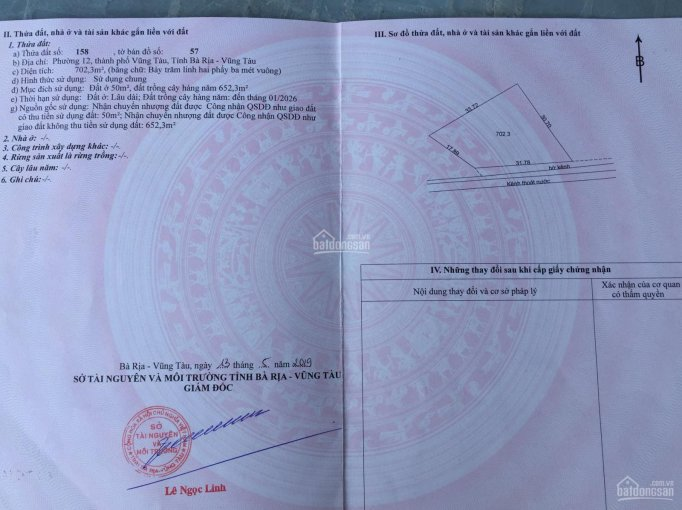 Cần bán đất hẻm 1382 đường 30/4, phường 12, TP Vũng Tàu