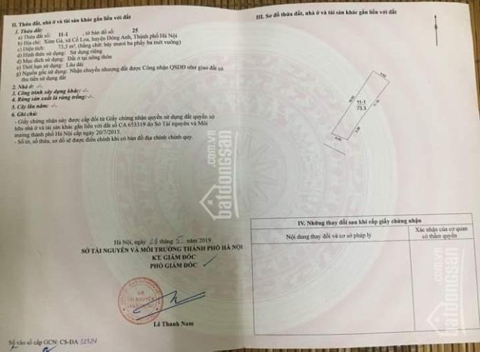 Chính chủ bán đất xóm Gà, Cổ Loa Đông Anh, không qua môi giới, liên hệ 0396664567