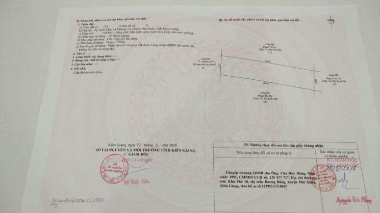Bán nhanh lô đất Suối Mây - Dương Tơ - Phú Quốc vị trí đẹp giá rẻ - LH 0917080580 ảnh 0