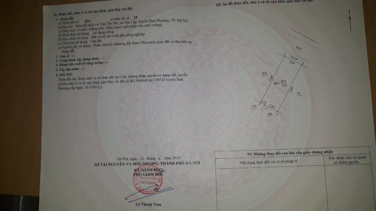 Chính chủ bán lô đất 51m2 mặt tiền kinh doanh ngay ngã ba Tân Tây Đô, xã Tân Lập