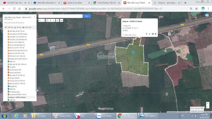 Bán gấp 6.2 hecta đất xã Long An, kế bên sân bay, mặt tiền đường Song Hành, cao tốc. 1.5 triệu/m2