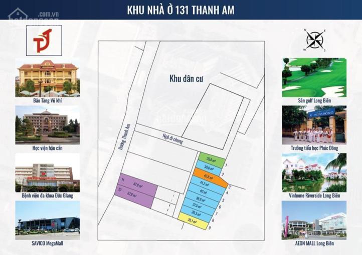 Bán đất mặt đường Thanh Am, phường Thượng Thanh, diện tích 64m2, sổ đỏ chính chủ