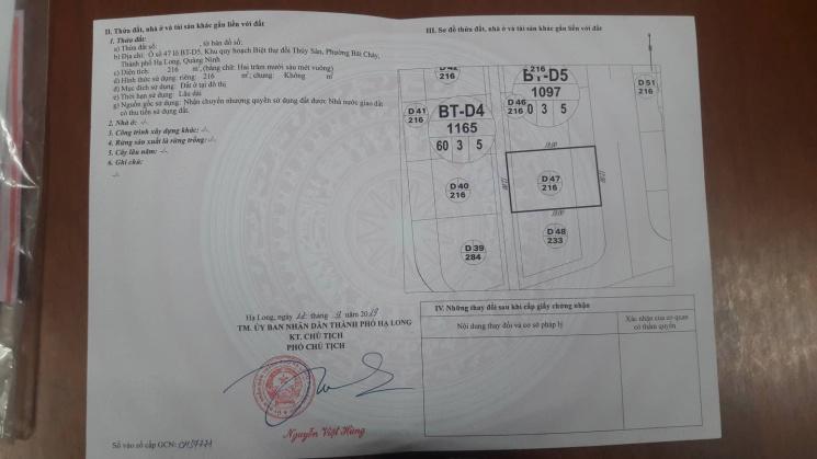 Chính chủ, bán đất đồi thủy sản bãi cháy, Quảng Ninh. Lh 0847040571