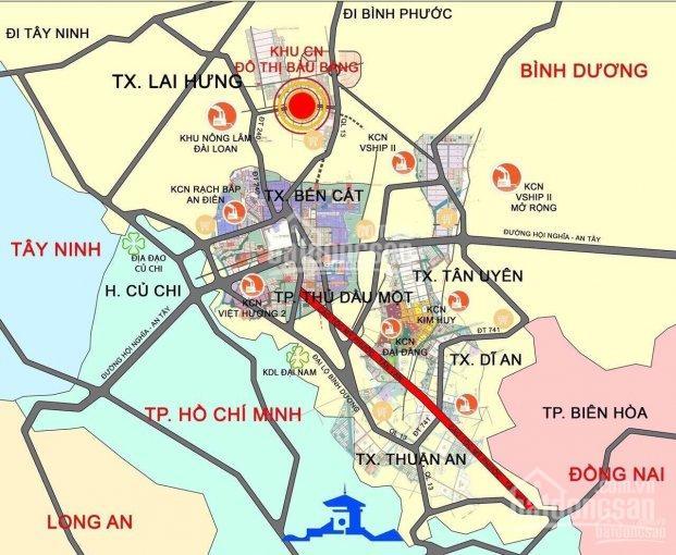 Dự án mới - KĐT Bàu Bàng giá 450 triệu/nền/sổ đỏ/thổ cư 100% - đường 25m. LH: 0901 692 999