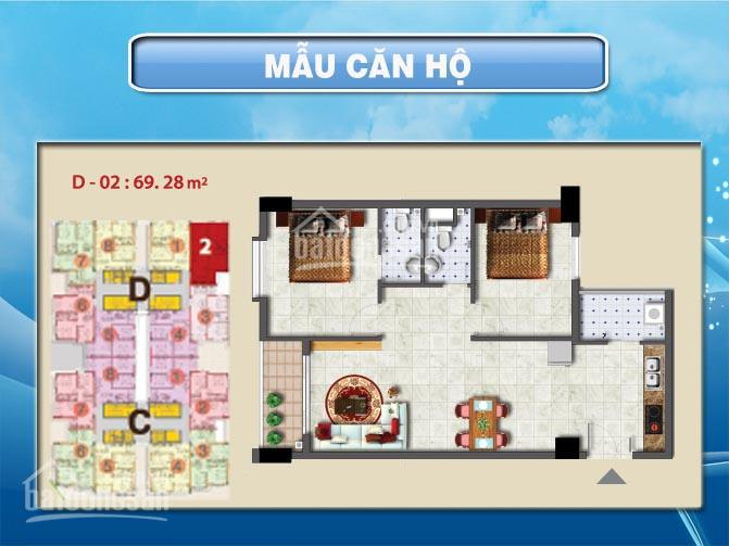 Bán căn hộ Sơn Kỳ 1, 70m2, 2PN, 2WC sổ hồng, 2 tỷ - LH 0919402958