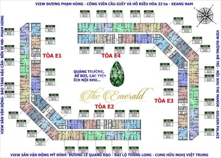 Bán cắt lỗ nhiều CH The Emerald, DT 76m2, 77m2, 80m2, 89m2, 96m, 99m, 102m, 124m, 141m2, giá 2,4 tỷ