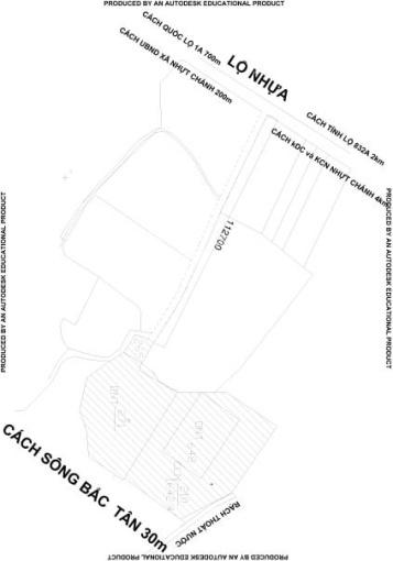 Bán lô đất 3714m2 (2000m2 thổ cư) Nhựt Chánh, Bến Lức, Long An, giá bán 2,5tr/m2
