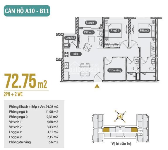 Căn hộ 73m2, 1.847tỷ Anland 2 cập nhật mới nhất tháng 10, mua trực tiếp CĐT, Nhận nhà tháng 6/2020
