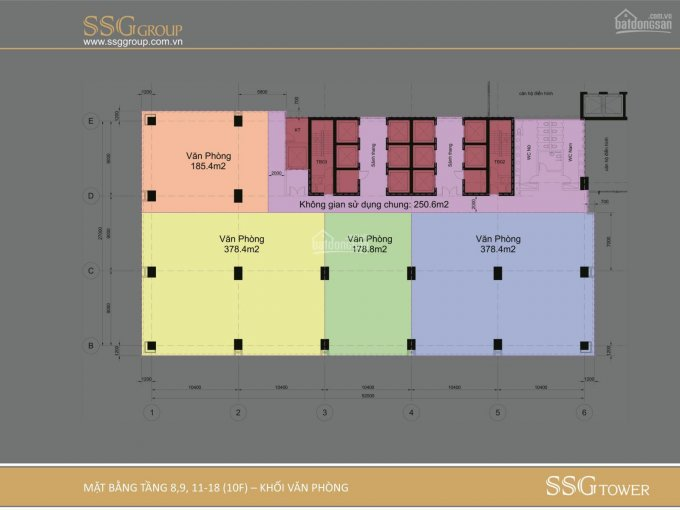 Cho thuê văn phòng Pearl Plaza diện tích 176m2 giá 509.190đ/m2/tháng