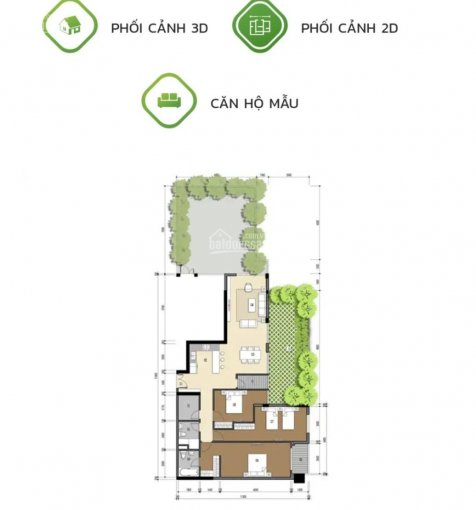 Cho thuê căn hộ LuxGarden 3PN 2WC 140m2 có sân vườn riêng rộng 35m2 chỉ 11tr/tháng, cam kết giá tốt