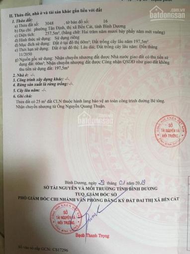 Chính chủ bán đất sau UBND Tân Định, Bến Cát, Bình Dương