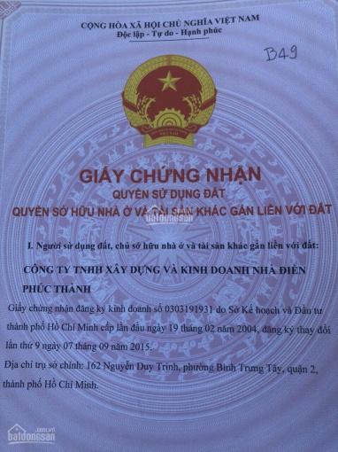 Bán gấp lô đất Nguyễn Duy Trinh, Long Trường, Q9 SHR, DT 100m2, LH: 0346747777 Nhung