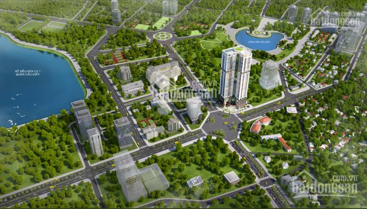 Căn hộ cao cấp cạnh đại sứ quán Mỹ, ngã tư Dương Đình Nghệ, view 2 công viên, hồ điều hòa
