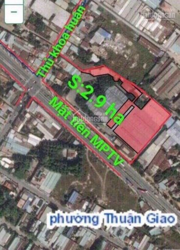 Bán đất Thuận Giao 2.9 ha, 11 triệu/m2, các bác làm dự án ok luôn. 0971110488