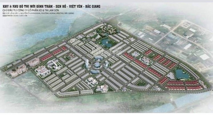 Bán đất KĐT Đình Trám Sen Hồ, Việt Yên, Bắc Giang vị trí đẹp, LH: 0379 709 075