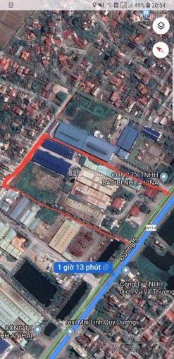 Bán gấp 2.8ha mặt đường Quốc Lộ 5, TT Lai Cách, HD làm nhà máy kho xưởng giá rẻ 71 tỷ (2.5tr/m2)
