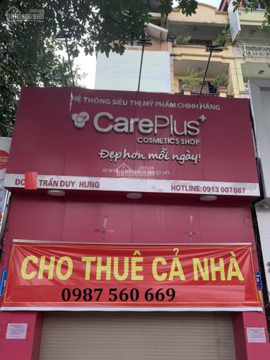 Cho thuê nhà mặt phố Trần Duy Hưng, diện tích 100m2 x 5T, mặt tiền 5m, giá 60tr/th. LH 0987 560 669