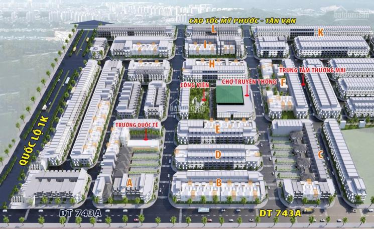 Chính chủ bán lô 70m2, 5*14m, 100% thổ cư, xây dựng 100%, sổ hồng riêng Dĩ An, Bình Dương