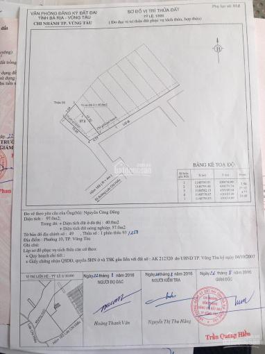 Chính chủ bán đất hẻm 183/9D Lưu Chí Hiếu, phường 10. DT 137m2 hướng đông nam