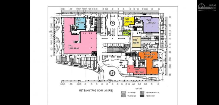 Cho thuê mặt bằng tầng trệt khu Iris 1-4 dự án Hà Đô Centrosa Garden, LH 0933692399
