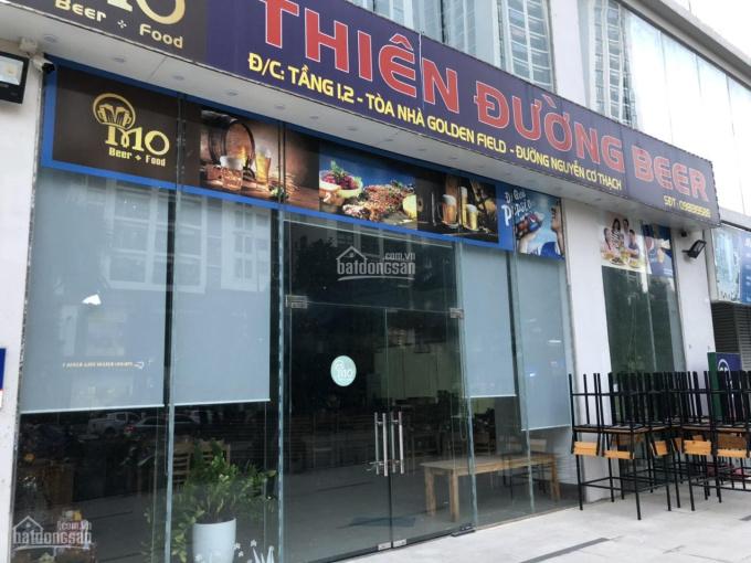 Cho thuê sàn thương mại lô góc tòa Golden Field - mặt Nguyễn Cơ Thạch. LH: 085.395.6999