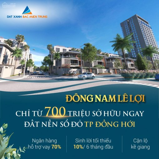 Chỉ 14,5 triệu/m² sở hữu ngay đất nền ven sông có sổ đỏ, trung tâm TP biển Quảng Bình, hàng hiếm