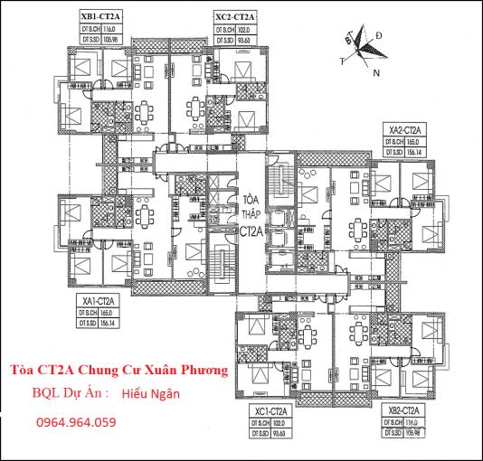 Bán gấp CHCC Xuân Phương Quốc Hội, DT 93.63m2 - 105m2 - 156m2 tầng đẹp, giá tốt, LH 0964964059
