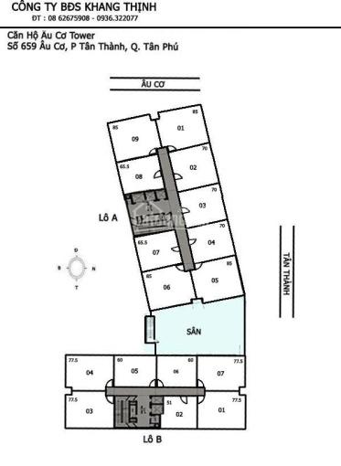 Chính chủ bán căn hộ cao cấp Âu Cơ Tower, Tân Phú, S: 89m2, 3PN, 2WC, 2.55 tỷ, tặng nội thất