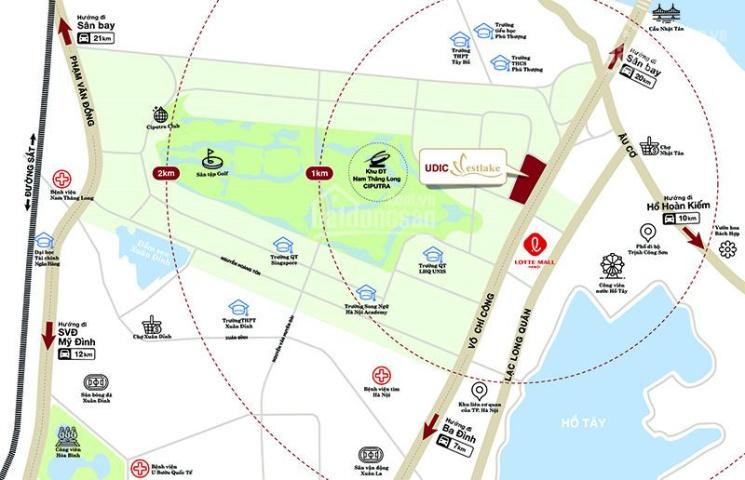 Sở hữu căn hộ 85m2 Udic Westlake view Hồ Tây, cầu Nhật Tân, giá từ 3.3 tỷ, HTLS 0%, nhận nhà ở ngay