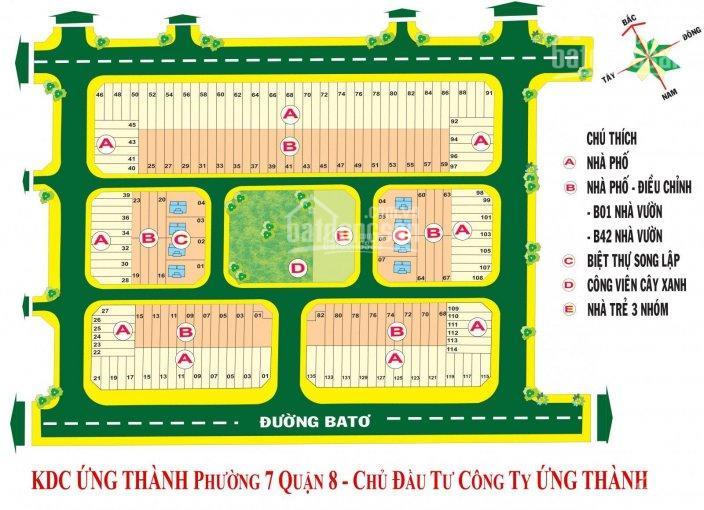 Mở bán đất nền KDC Ứng Thành Q8 MT Phạm Thế Hiển, giá 2tỷ3/nền, 88m2 4x22, sổ riêng LH 0933319627