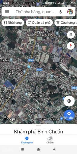 Bán đất thổ thị xã Thuận An, Bình Dương đường DT743, diện tích 100m2. LH 0367341351