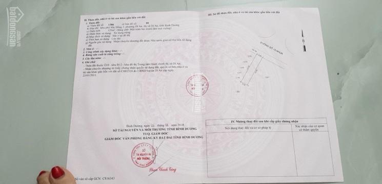 BÁN ĐẤT TTHC DĨ AN, SÁT BÊN TRƯỜNG QUỐC TẾ VIỆT ANH, ĐỐI DIỆN KHU BIỆT THỰ HOÀNG GIA, LH 0961391279