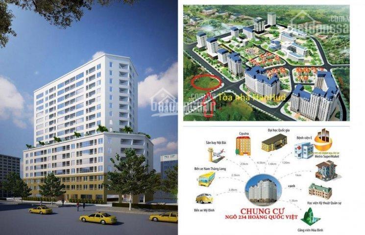 Bán chung cư Hanhud Hoàng Quốc Việt diện tích 89m2, 3 PN giá 25tr/m2. LH 0931983636